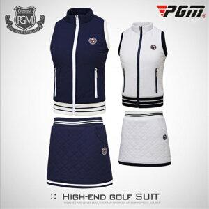 ゴルフウェア ベスト スカート レディース 暖 綺麗 ホワイト 白 ネイビー 紺 レディース ゴルフグッズ レディースゴルフウェア ゴルフ用品 可愛い 上下セット 秋 冬 スカートインナー付きS M L XL