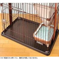ウッドワンサークルキャット2段タイプ【猫用室内サークル】