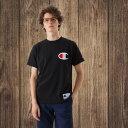 SALEチャンピオン Champion 半袖Tシャツ ビッグロゴ刺繍 18SS アクションスタイル アメカジ メンズ レディース(C3-F362)