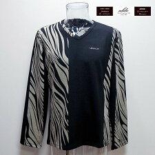 ウザリスUZUALIS19秋冬AW新作長袖Tシャツ(XL)(XXXL)イタリア製95-1715-60-50U7733M