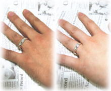 ペアリング シルバー 刻印無料 One Love FISS-SH1-PK (FISS-MSD) ピンクシルバー デザイン ペア 指輪 刻印 7号 9号 11号 12号 13号 14号 15号 16号 17号 18号 19号 20号 21号 大きいサイズ 偶数号 カップル お揃い 記念日 プレゼント 誕生日