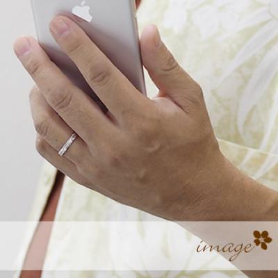 ペアリング ハワイアンジュエリーペア 刻印無料 1号~30号 誕生石 名入れ シルバー 28-8789-8788 セミオーダーメイド 偶数号 ペア ピンキー リング 結婚指輪 ペア指輪 ペアルック お揃い 恋人 カップル シンプル プレゼント 大きい ブランド 誕生日 記念日  12月1月