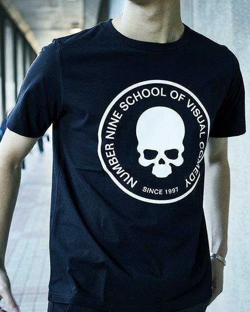 トップス, Tシャツ・カットソー NUMBER (N)INESCHOOL OF VISUAL COMEDYT-SHIRT BLACK T asrk