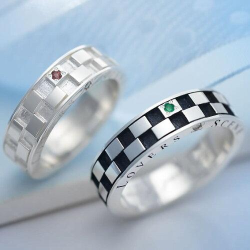 ペアリング シルバー 誕生石 FISS & LOVERS SCENE ラバーズシーン コラボレーション LSR0031D-DBK-...