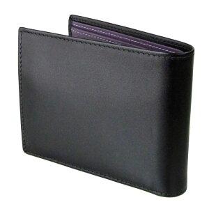 ETTINGERエッティンガー二つ折り財布メンズロイヤルコレクションST141JRBLACKブラック×パープル
