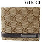 グッチ GUCCI 財布 メンズ 二つ折り財布 小銭入れナシ GGキャンバス ベージュ 233100 FAFXR 9643