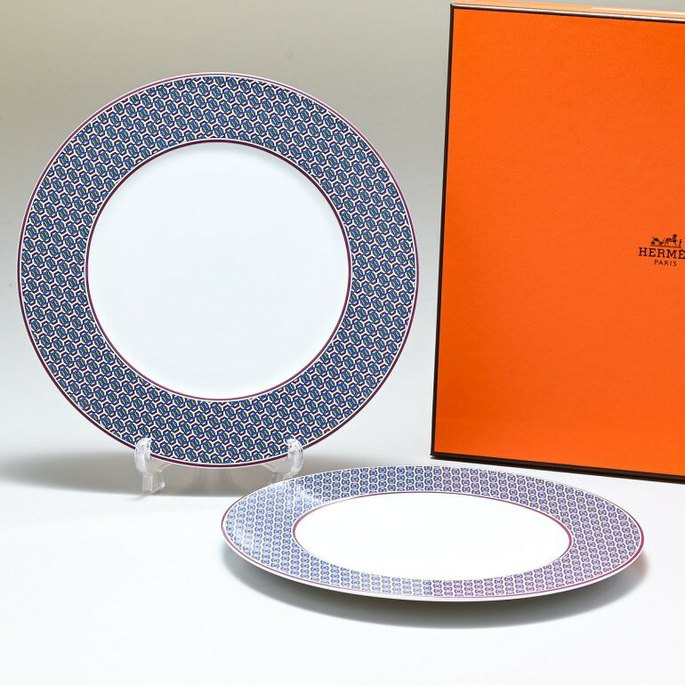 HERMES dishes HERMES TIE SET 21cm 040107p2
