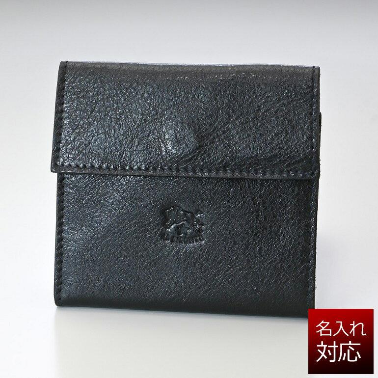 イルビゾンテ 三つ折り財布 ミニウォレット メンズ レディース バケッタレザー ブラック C0455 P 153