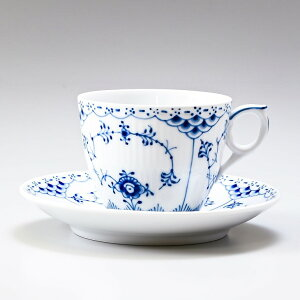 ロイヤルコペンハーゲン ブルーフルーテッド ハーフレース コーヒーカップ & ソーサー 170ml 1102071 【イニシャル名入れ可有料】 1017205