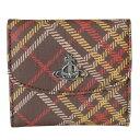ヴィヴィアンウエストウッド 折財布 ミニ財布 レディース コンパクトウォレット スマートウォレット DERBY ダービー 51150003 ブラウン/タータン 母の日 プレゼント 実用的