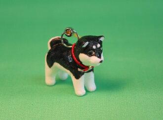 柴犬豆 (黑色) 手機吊飾