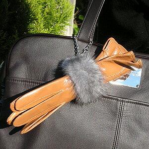Chic knitted mink fur (fur) glove holders (gloves holder) ■