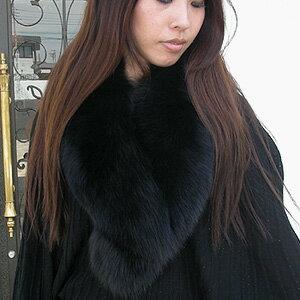 SAGA Fox (FOX fur) ヘチマロング color (winding scarf, Tippett and collar ) ■