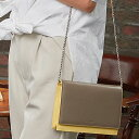 |1161 キャンディ チェーンウォレットバッグ(お財布ポシェット) Mサイズ財布ポシェット ウォレット バッグ チェーン レザー 本革 イタリアレザー 旅行 海外旅行 サブバッグ スマホ ケース パスポートケース バイカラー 軽い 便利 大人 女性