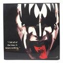 送料無料 ジーン・シモンズ Gene Simmons キッス KISS アートパネル 壁掛け 据え置き 正方形 25センチサイズ 壁掛けフック付き アーティスト POPパネル Keetatat Sitthiket キータタット シティケット