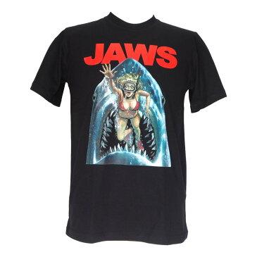 送料無料 ジョーズ Jaws スティーヴン・スピルバーグ プリント Tシャツ ムービーTシャツ 映画 Tシャツ ムービー 懐かしい