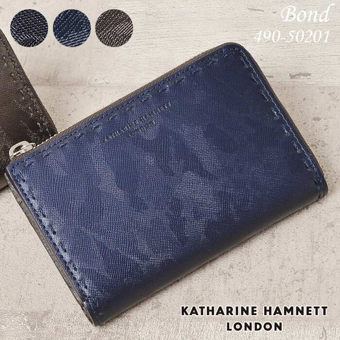 c0ca2f85ecc5 キャサリンハムネット 財布 二つ折り財布 縦型 財布 BOX小銭入れ ...