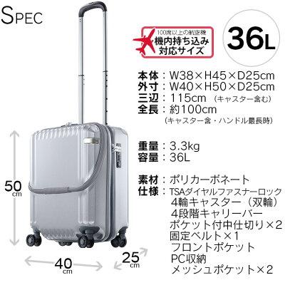 ace.(エース)おすすめのブランドスーツケース2