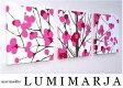 ファブリックパネル アリス marimekko LUMIMARJAPINK LUMIMARJAGREEN 30×30cm 3枚セット 各カラー有 ピンク グリーン 3連 パネル マリメッコ 壁インテリア ルミマルヤ LUMIMARJA