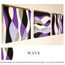 ファブリックパネル アリス N5-WAVE 30×30cm 3枚セット 【バイオレット】紫 薄紫 パープル ホワイト グレー ファブリック ボード インテリア パネル 人気 壁掛け装飾