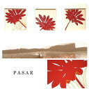 ファブリックパネル adornoPASAR 30×30cm 3枚セット レッド 赤 北欧 花 植物 国産 おしゃれ adorno PASAR モダン 壁飾り 壁掛け インテリア 簡単設置の写真