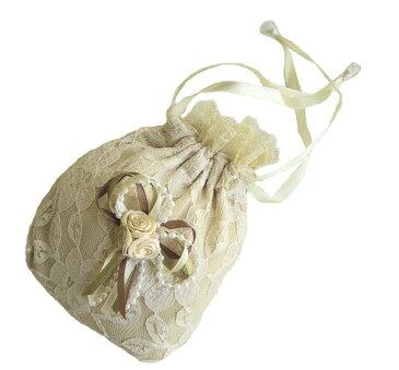 【ホワイトデーに】ロマンティックな フリフリレースの巾着 【アリスの時間】★