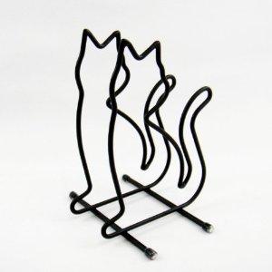 猫 ねこ ネコ キャット 好きならおすすめまな板スタンド ネコ(ブラック)