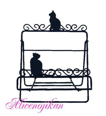 猫 ねこ ネコ キャット 好きならおすすめレシピスタンド ネコ(ブラック)