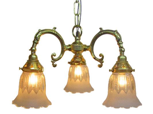 【アンティーク照明】3灯ペンダントランプ5473G3 1821:【smtb-k】 【アリスの時間】★:アリスの時間(照明 家具 雑貨