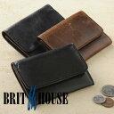 ブリットハウス オイルホース 小銭入れ Brit house コインケース 馬革 ホースレザー 本革 日本製 ボックスタイプ マチ付き