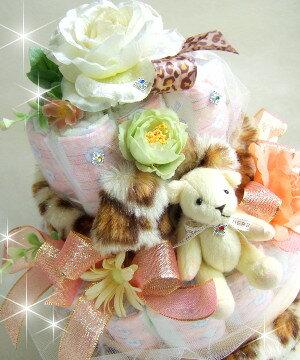 ★アメリカ発の出産祝い★紙オムツケーキ【テディベア】ママさんお疲れさま&赤ちゃん誕生日お祝いにも♪