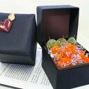 オレンジ色の薔薇の宝石箱★7輪を散りばめて【黒い小箱のビビアン】プリザーブドフラワー _.