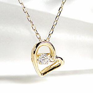 K18YGダンシングダイヤモンドネックレス
