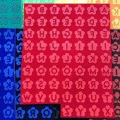 f-0001/DM便送料込/60文字セット/フロッキーシート/数字/アルファベット/イニシャル/アイロン接着/お花/リメイク/アメカジ/アメコミ/クラフト/ハンドメイド/レトロ/ワンポイント/レタリング/手芸用品