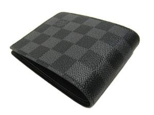 ルイヴィトン N62663 ダミエ・グラフィット メンズ 二つ折り 財布 ポルトフォイユ・ミュルティプル LVLOUIS VUITTON