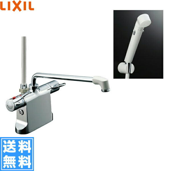 リクシル[LIXIL/INAX]シャワーバス水栓[サーモスタット・デッキタイプ][ビーフィットシリーズ][一般地仕様]BF-B646TSDW(300)-A100【送料無料】