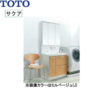 [LDSWB075BDGJN1+LMWB075A3SLC2G]TOTO[SAKUAサクア]洗面化粧台セット06[間口750][ミドルクラス][送料無料]