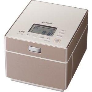 【納期約2週間】MITSUBISHI 三菱 NJ-XS108J-P 蒸気レス IH炊飯器 備長炭 炭炊釜 テンダーロゼ 5.5合炊き NJXS108JP
