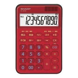 【納期約1ヶ月以上】★★SHARP シャープ EL-M335-RX ミニナイスサイズ電卓 レッド系 ELM335RX