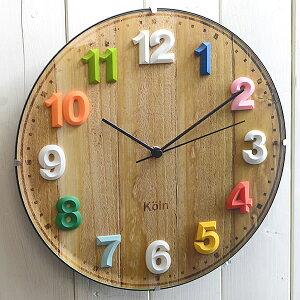 チャーミングなエンボスの文字で子供から大人まで楽しめる掛け時計です!掛け時計 電波時計 ☆...