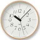 掛け時計 電波時計 レムノス LEMNOS riki clock RC リキクロック WR07-10 北欧 おしゃれ かわいい
