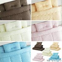 国産洗える布団4点セット(掛布団+敷布団+枕2個)ダブルサイズ