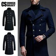 ナポレオン ピーコート ジャケット ファッション ビジュアル ブラック ネイビー