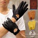 デンツ【送料無料】DENTS カットオフ ドライビング グローブ 5-1009 Berry(レッド)メンズ 手袋 半指指なし メンズ
