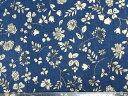 顎あてカバー ダブルガーゼ地 薄藍系花柄