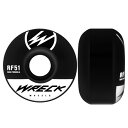 レック ウィール WRECK WHEELS/W1 ORIGINAL CUT BLACK 51mm 83B ウィール