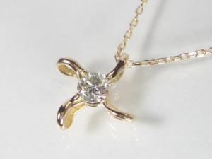 K18PGピンクゴールドダイヤモンドペンダントネックレス