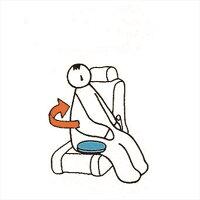 ラックヘルスケア回転クッションイージーターンすべり止め付ダークグレー