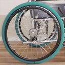 あい・あ〜る・けあ ホイルソックス 大 24〜23インチ 緑 2本1セット 車椅子用 室内用 車輪スリッパ タイヤカバー 後輪 畳などの床の傷みを軽減