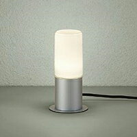 ☆DAIKO LED照明器具 アウトドア アプローチ灯 白熱灯60Wタイプ 電球色 ランプ付 差込プラグ付 防雨形 本体色:シルバー 据置専用 DWP38628Y